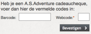 Barcode As Adventure & promoties